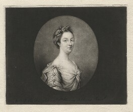 Penelope Pitt (née Atkins), Lady Rivers when Mrs Pitt, by Richard Houston, after  Penelope Carwardine - NPG D3890