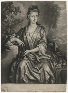 Sarah Plowden (née Chicheley), by William Faithorne Jr, published by  Edward Cooper, after  John Closterman - NPG D3928