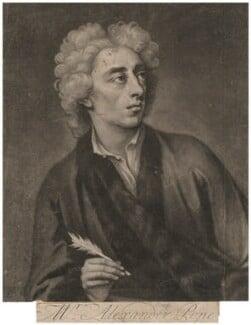 Alexander Pope, by John Simon, after  Michael Dahl - NPG D3934