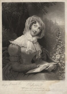 Possibly Bessy Randall ('Reflection'), by A.M. Huffam, published by  J. Brooker, after  J. Hudson - NPG D3956