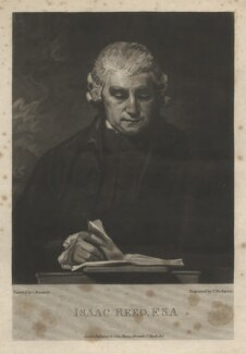 Isaac Reed, by Thomas Hodgetts, published by  John Samuel Murray, after  George Romney - NPG D4001