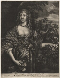 Frances Weston (née Stuart), Countess of Portland, published by Alexander Browne, after  Sir Anthony van Dyck - NPG D4003