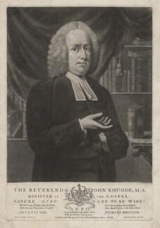 John Rhudde, by William Dickinson, after  John Michael Williams - NPG D4008
