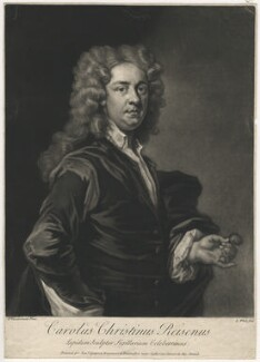 Charles Christian Reisen, by George White, printed for  Samuel Sympson, after  John Vanderbank - NPG D4013
