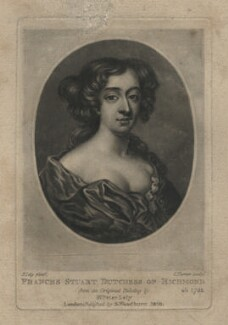 Frances Teresa Stuart, Duchess of Richmond and Lennox, by Charles Turner, published by  Samuel Woodburn, after  Willem Wissing - NPG D4028