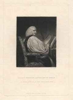 Richard Robinson, 1st Baron Rokeby, by Samuel William Reynolds, published by  Hodgson, Boys & Graves, after  Sir Joshua Reynolds - NPG D4038