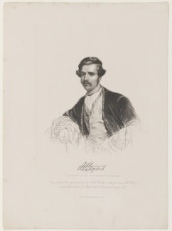 Sir Austen Henry Layard, by Joseph Brown, published by  Richard Bentley, after  Henry Wyndham Phillips - NPG D4043