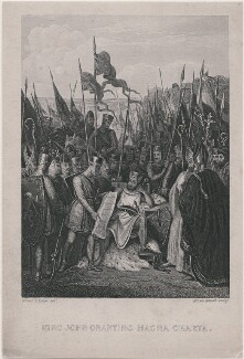 'King John Granting Magna Charta' (King John), by Alfred Adlard, after  Robert Trewick Bone - NPG D4067