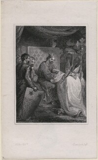 King John signing the Magna Carta, by Davenport, after  Hilton - NPG D4068