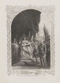 'Signing of Magna Charta by King John' (King John), after Unknown artist - NPG D4069