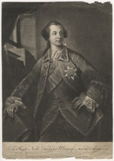 Charles Watson-Wentworth, 2nd Marquess of Rockingham, by Richard Houston, printed for  Robert Sayer, after  Benjamin Wilson, circa 1760-1775 - NPG D4093 - © National Portrait Gallery, London