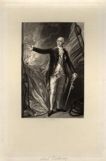George Bridges Rodney, 1st Baron Rodney, by Richard Josey, after  Thomas Gainsborough - NPG D4095