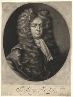Sir George Rooke, by John Simon, after  Michael Dahl - NPG D4100