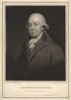 John Ker, 3rd Duke of Roxburghe, by William Say, published by  Longman, Hurst, Rees & Co, after  Sir William Beechey - NPG D4111