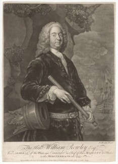 Sir William Rowley, by John Brooks, published by  Thomas Jefferys, published by  William Herbert - NPG D4118