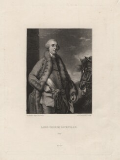 George Sackville Germain, 1st Viscount Sackville, by Samuel William Reynolds, published by  Henry Graves & Co, after  Sir Joshua Reynolds, published circa 1820 (1759) - NPG D4129 - © National Portrait Gallery, London