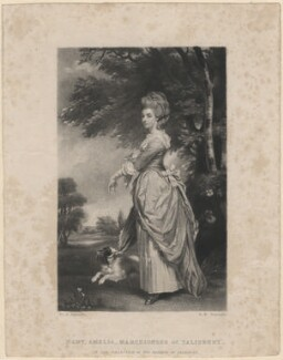 Mary Amelia Cecil (née Hill), Marchioness of Salisbury, by Samuel William Reynolds, after  Sir Joshua Reynolds - NPG D4133