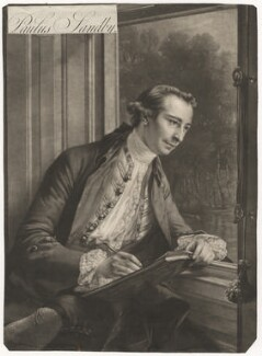 Paul Sandby, by Edward Fisher, after  Francis Cotes - NPG D4137