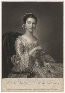 Elizabeth Sandby (née Venables), by James Macardell, after  Francis Cotes - NPG D4141