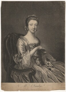 Elizabeth Sandby (née Venables), by Richard Purcell (H. Fowler, Charles or Philip Corbutt), published by  Robert Sayer, after  Francis Cotes - NPG D4142