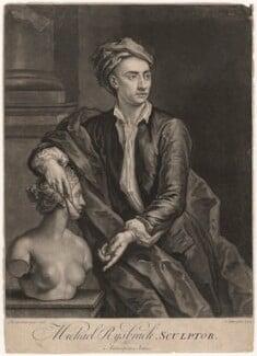 John Michael Rysbrack, by John Faber Jr, after  John Vanderbank - NPG D4144