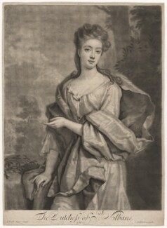 Diana Beauclerk (née de Vere), Duchess of St Albans, by and published by John Smith, after  Sir Godfrey Kneller, Bt - NPG D4148