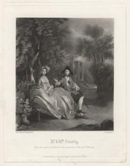 Thomas Sandby; Elizabeth Sandby (née Venables), by George Sanders, published by  Henry Graves & Co, after  Thomas Gainsborough, published 1878 - NPG D4154 - © National Portrait Gallery, London