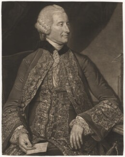 John Montagu, 4th Earl of Sandwich, by Valentine Green, after  Johan Joseph Zoffany - NPG D4160