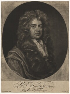 Mr Sansom, by John Smith, after  John Closterman, 1705 - NPG D4161 - © National Portrait Gallery, London