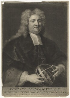 Nicholas Saunderson, by George White, after  John Vanderbank - NPG D4163