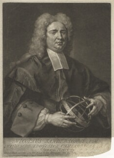 Nicholas Saunderson, by and sold by John Faber Jr, after  John Vanderbank - NPG D4164
