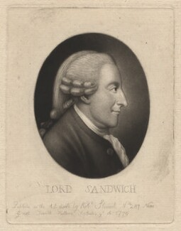 John Montagu, 4th Earl of Sandwich, by and published by Robert Stewart - NPG D4170
