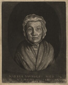 Martha Saunders, by Francis Edward Adams - NPG D4175