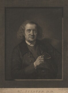 William Sclater, by John Raphael Smith, after  Nathaniel Hone - NPG D4178