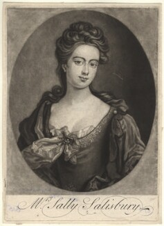 Sarah Pridden (Sally Salisbury), by John Smith, after  Sir Godfrey Kneller, Bt,  - NPG D4180 - © National Portrait Gallery, London