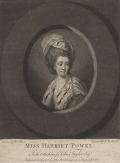 Harriet Mackenzie (née Powell), Countess of Seaforth, by John Raphael Smith, published by  John Boydell, after  Matthew William Peters - NPG D4187