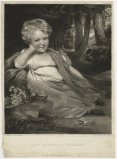 Georgiana (née Herbert), Countess of Shelburne when a child, by William James Ward, after  John Jackson - NPG D4195