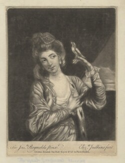 Harriet Mackenzie (née Powell), Countess of Seaforth, by Elizabeth Judkins, printed for  Robert Sayer, after  Sir Joshua Reynolds - NPG D4200