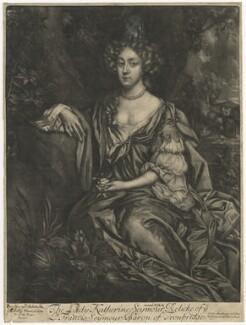 Katherine Seymour (née Lee), Lady Seymour, published by Alexander Browne, after  Sir Peter Lely - NPG D4205