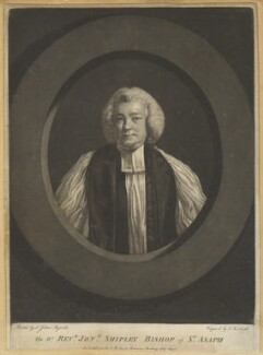 Jonathan Shipley, by John Raphael Smith, after  Sir Joshua Reynolds - NPG D4221