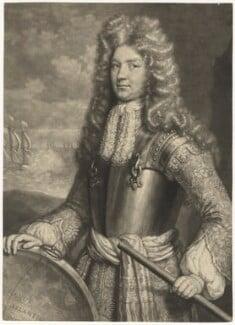 Sir Cloudesley Shovell, by John Smith, after  Willem de Ryck (Ryke), 1692 - NPG  - © National Portrait Gallery, London