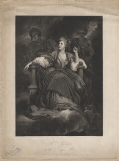 Sarah Siddons (née Kemble) as the Tragic Muse, by John Charles Bromley, after  Sir Joshua Reynolds - NPG D4232