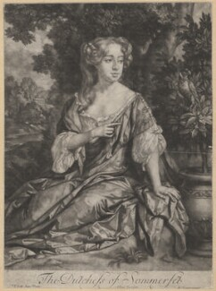 Elizabeth Seymour (née Percy), Duchess of Somerset, by Jan van der Vaart, published by  Edward Cooper, after  Sir Peter Lely - NPG D4261