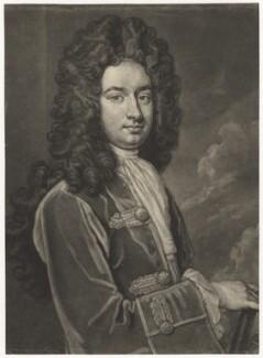 James Stanhope, 1st Earl Stanhope, by John Faber Jr, after  Sir Godfrey Kneller, Bt - NPG D4291