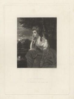 Hon. Elizabeth Stanhope (née Falconer), by Samuel William Reynolds, after  Sir Joshua Reynolds - NPG D4292