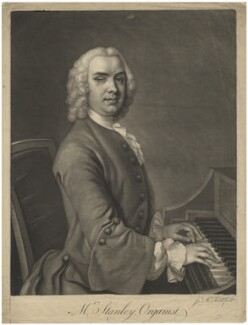 John Stanley, by James Macardell, after  Unknown artist - NPG D4294