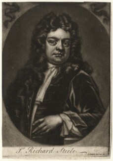 Sir Richard Steele, by and published by John Simon, after  Unknown artist, circa 1710-1740 - NPG D4299 - © National Portrait Gallery, London