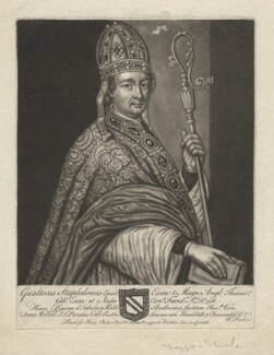 Walter de Stapledon, by John Faber Sr, printed for  Henry Parker - NPG D4305