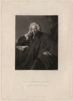 Laurence Sterne, by Samuel William Reynolds, published by  Hodgson & Graves, after  Sir Joshua Reynolds - NPG D4315
