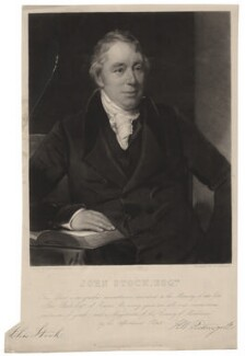 John Stock, by Charles Edward Wagstaff, after  Henry William Pickersgill - NPG D4319